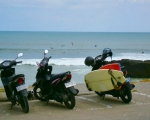 Surfers Motorbike